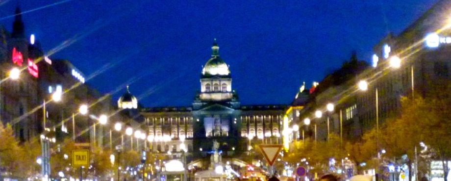 View from Wenceslas Square, Prague.
