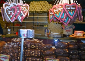 Traditional seasonal confectionary stalls.