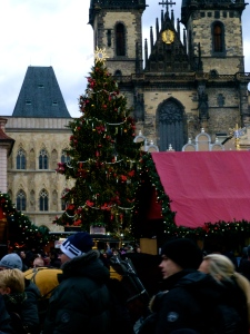 Old Town square, Prague - at Christmas.