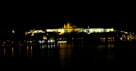 Castle view from across the Vltava, Prague.